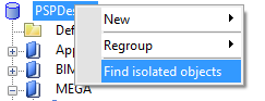 Find isolated objects