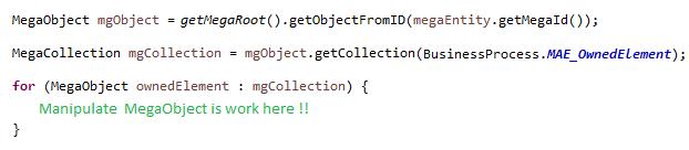 Example of working java code
