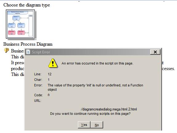 Diagram Creation - Script Error - MEGA Community